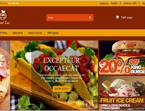 A yellow and brown color theme and suitable for those business who want to increase their sales 30% in the keywords of food & drinks0 (0)